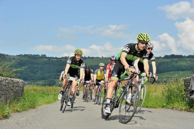 Riders in the Lyth Valley. Picture courtesy of Rick Robson, CycleSportPhotos.com