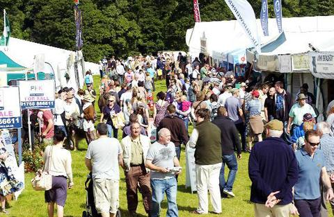 The crowded concourse at Lowther Park