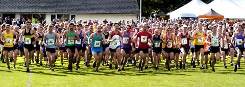 Record entry for 'blue riband' fell race at Grasmere Sports