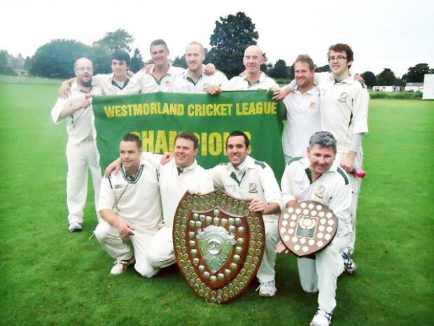 Westgate celebrate their Westmorland League triumph after beating Bare by 24 runs