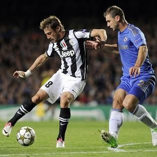 Chelsea's Branislav Ivanovic, right, in action against Juventus