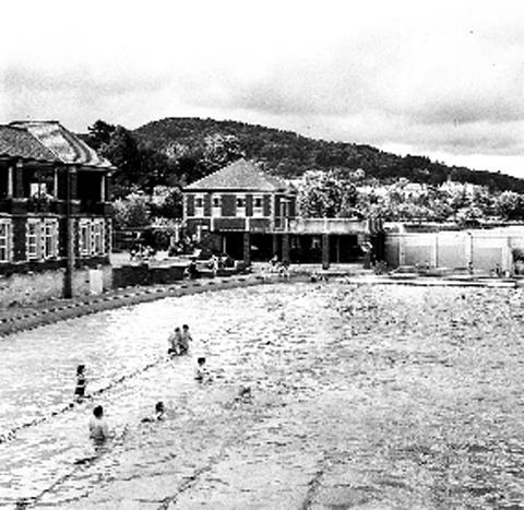 The outdoor pool at Grange in its heyday