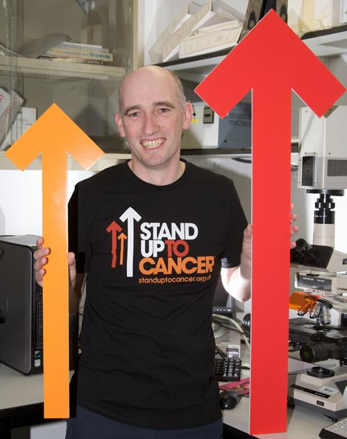 Cancer researcher Dr James Allan who is backing the Stand Up To Cancer campaign