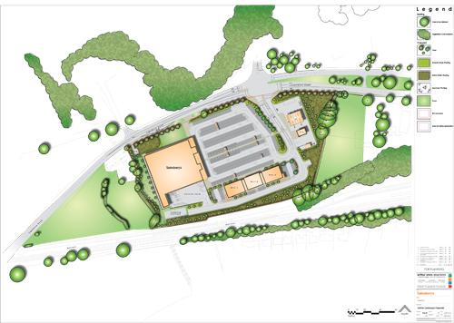 Proposed plan for Sainsbury in Ulverston