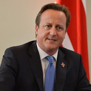 Prime Minister David Cameron pledged to use Britain's veto to block the European Union budget if it is not in the UK interest