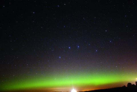 One of Stella Coxon's photos of the Northern lights