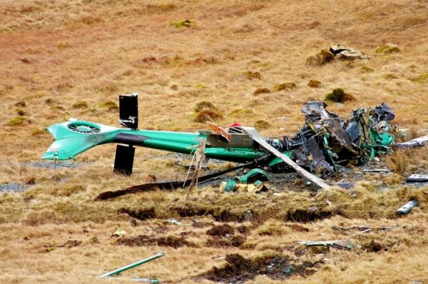 CRASH: Remains of Mark Weir's helicopter