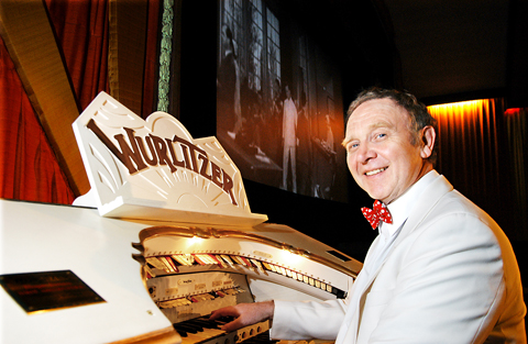 Organist David Ivory plays the vintage instrument