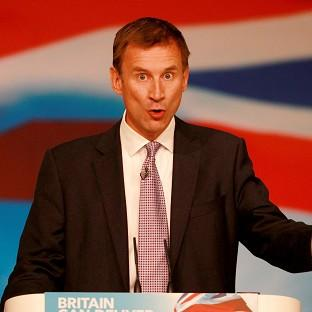 Jeremy Hunt said that while some organisations are delivering decent food and drink for patients, others are 'falling short'