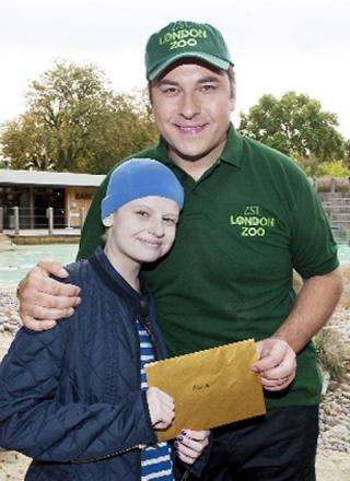 Alice with comedian David Walliams who tweeted his condolences