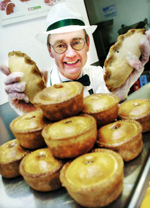 The Westmorland Gazette: John Nicholl with some of his pies