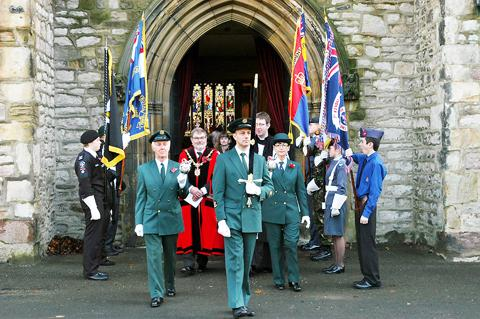 Remembrance Sunday in Kendal