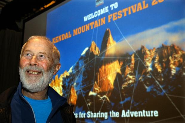Sir Chris Bonington at last year's Kendal Mountain Festival
