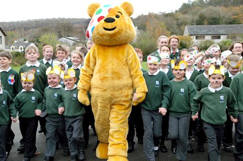 Pudsey Bear visits Storth School
