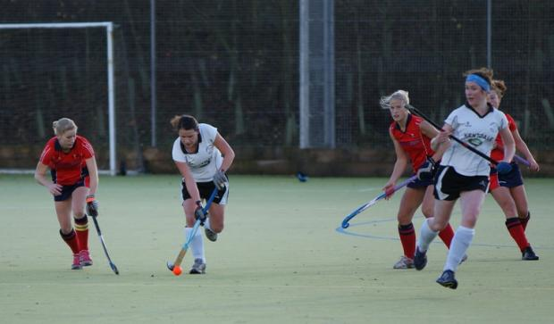 Action from Kendal's tight 2-2 draw with Sheffield Hallam. Picture by Richard Edmondson