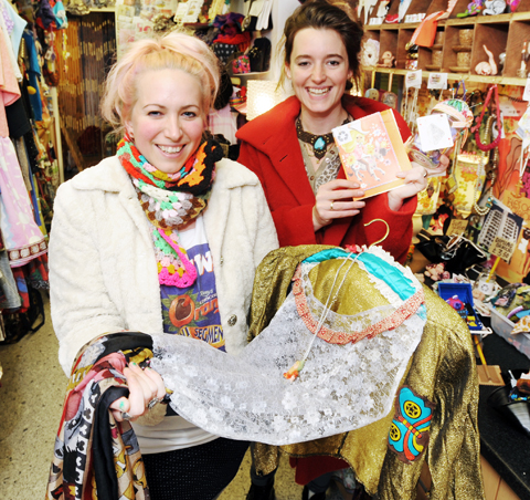 Emma Haddow and Naomi Turton in their new shop