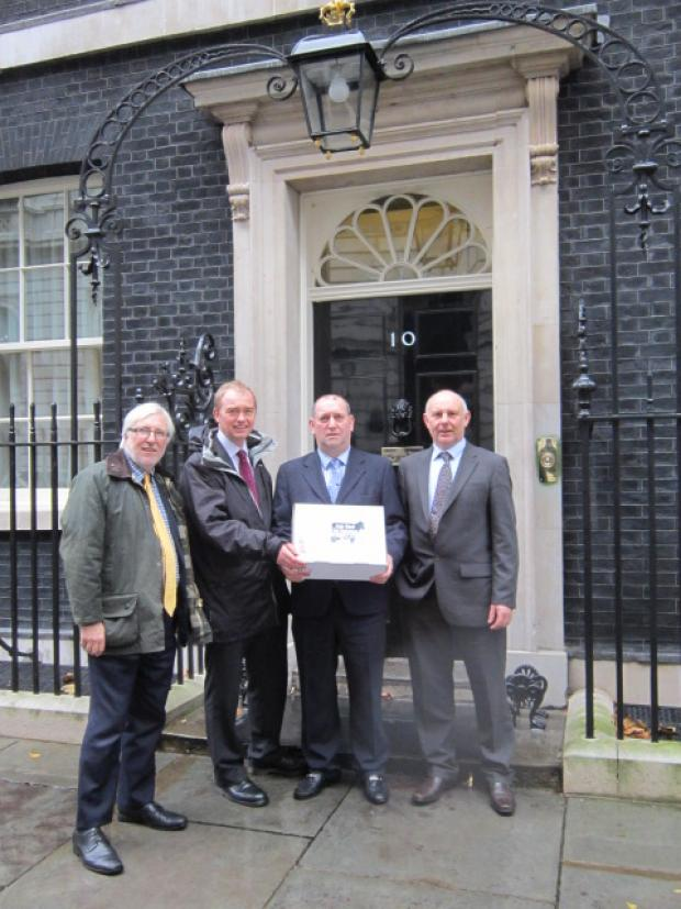 South Lakeland milk price petition handed in to Number 10