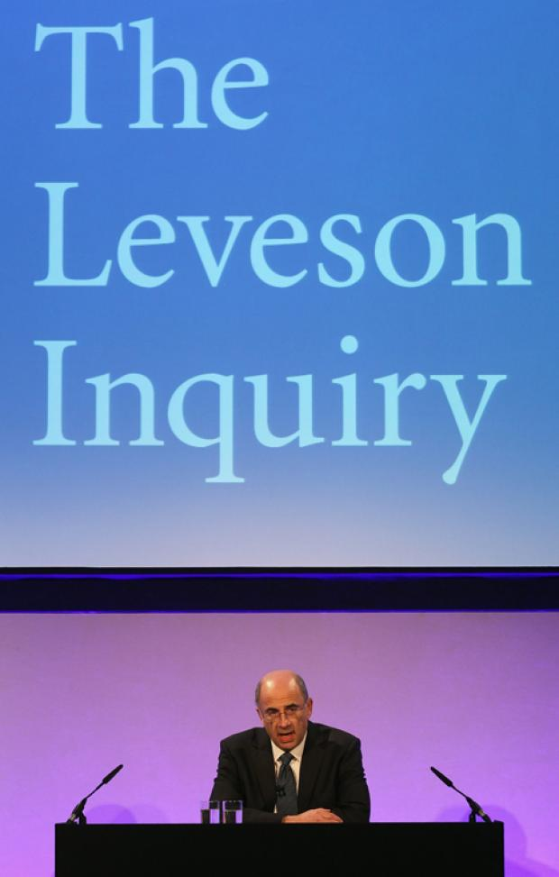 Lord Justice Leveson at today's announcement