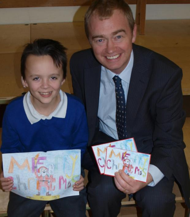Windermere winner: Alfie, 10, with Tim Farron MP