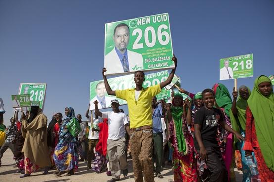 Campaigning in the run-up to the Somaliland elections - photograph by Kate Stanworth