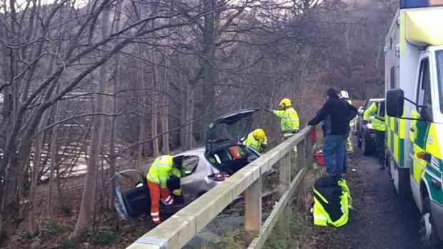 Woman fighting for her life after car leaves A592 at Glenridding