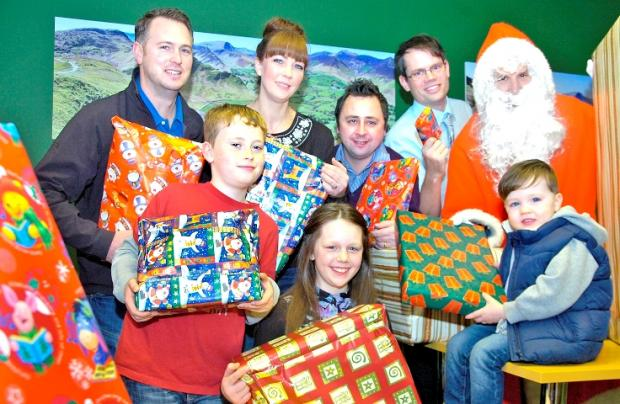 Kendal families left homeless by Sandylands fire celebrate Christmas