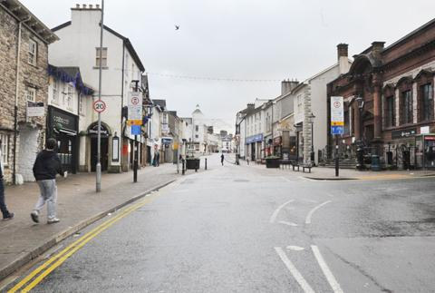Shopping free zone - Kendal town centre today