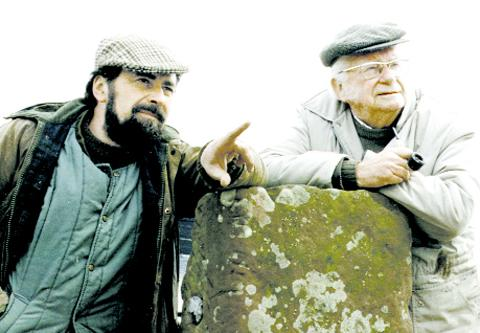 Eric Robson (left) with the late Alfred Wainwright