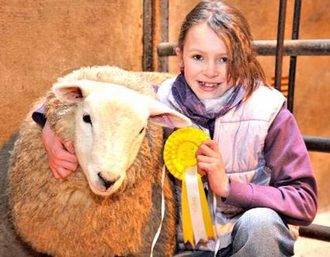 Robyn Allen with her lamb