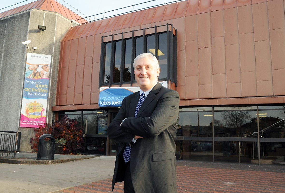 Lakes Leisure business development manager Derek Jones outside its Kendal site