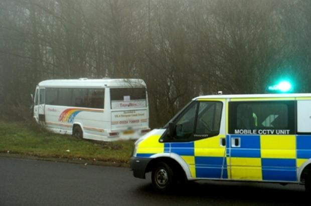 Bus carrying college students crashes on A590 near Witherslack