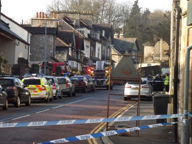 Emergency services at the scene (Photograph by Mark Lynch)
