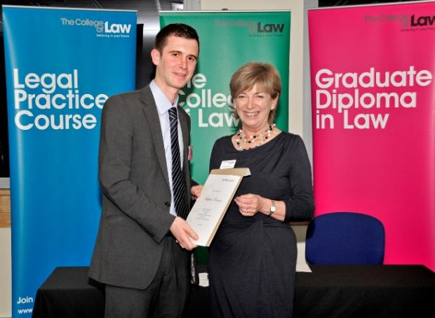 Trainee solicitor from Arnside wins national law award