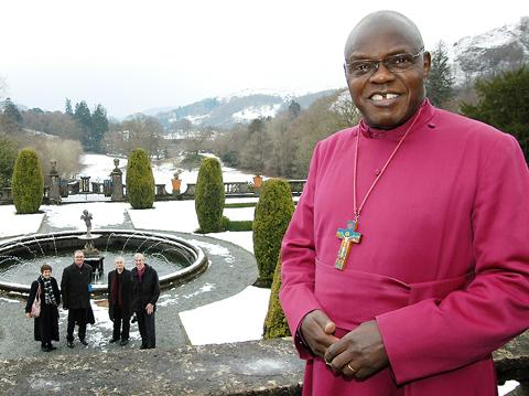 The Archbishop of York, Dr John Sentamu, on his two-day visit to tour the Diocese's Rydal Hall
