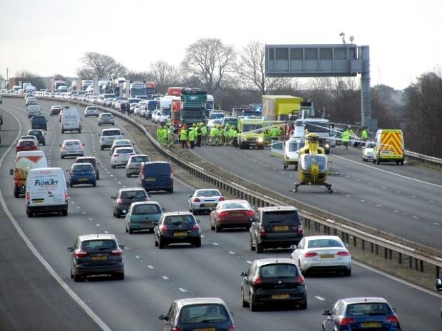Police confirmed two HGV drivers died at the scene of the accident
