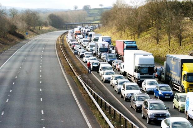 The Highways Agency said the northbound carriageway is unlikely to reopen before 5pm