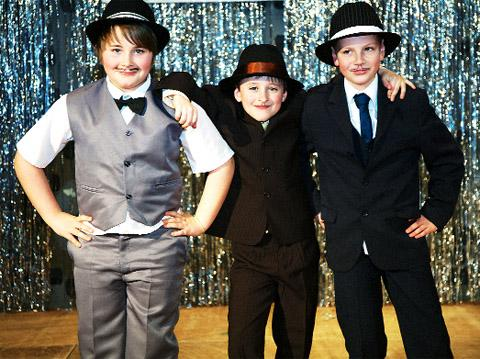 Cast members from Bugsy Malone