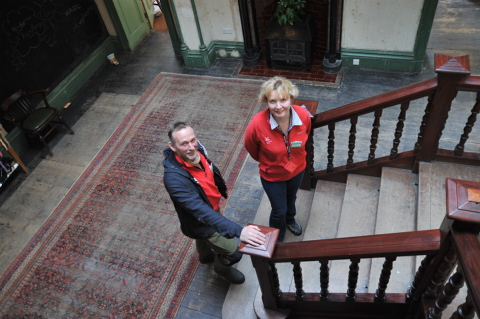Dave Almond, manager, and visitors supervisor Elaine Taylor at Allan Bank