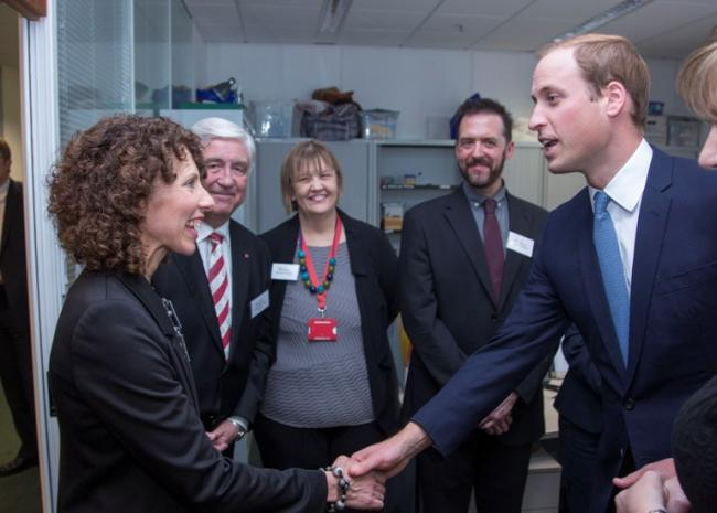 Christina Sudlow is introduced the Duke of Cambridge