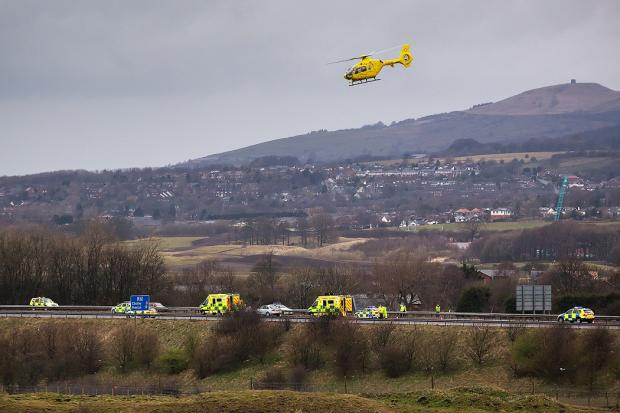 The North West Air Ambulance in action
