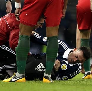 Steven Fletcher sustained an ankle injury on Scotland duty