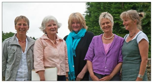 The Cawthwaite bloggers are, from left to right, Aly Purssell, Josie Baxter, Jackie Harris, Rosemary Darbishire, Jean Woodhouse