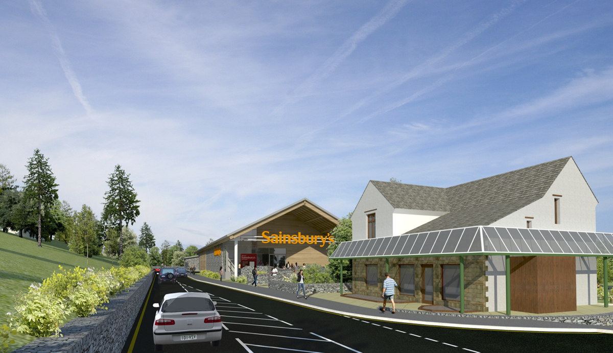 The new Sainsbury's store planned for Ambleside