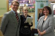 David Morris MP with caseworkers Emma Smith and Yvonne Kent