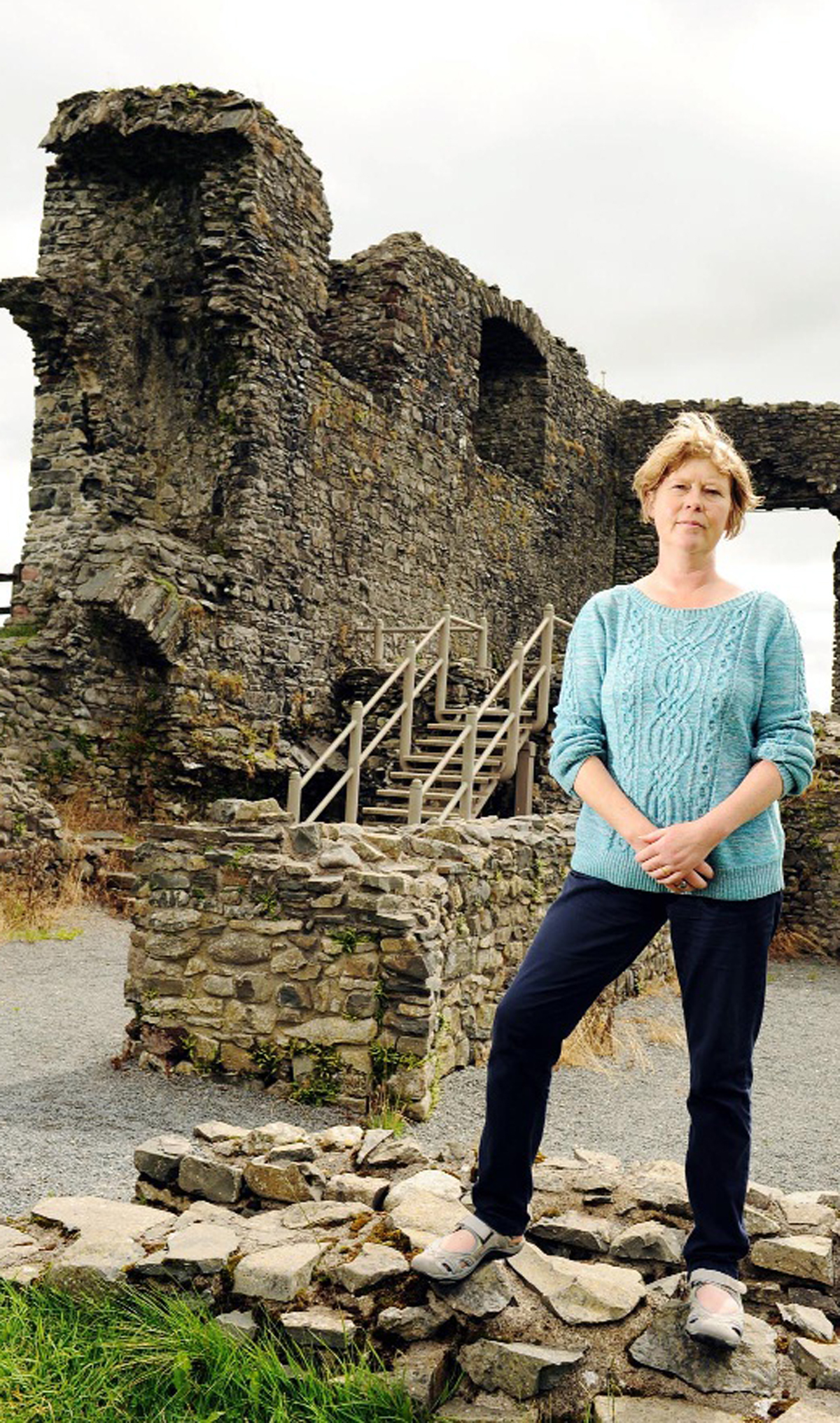 Julie Tait pictured at Kendal Castle