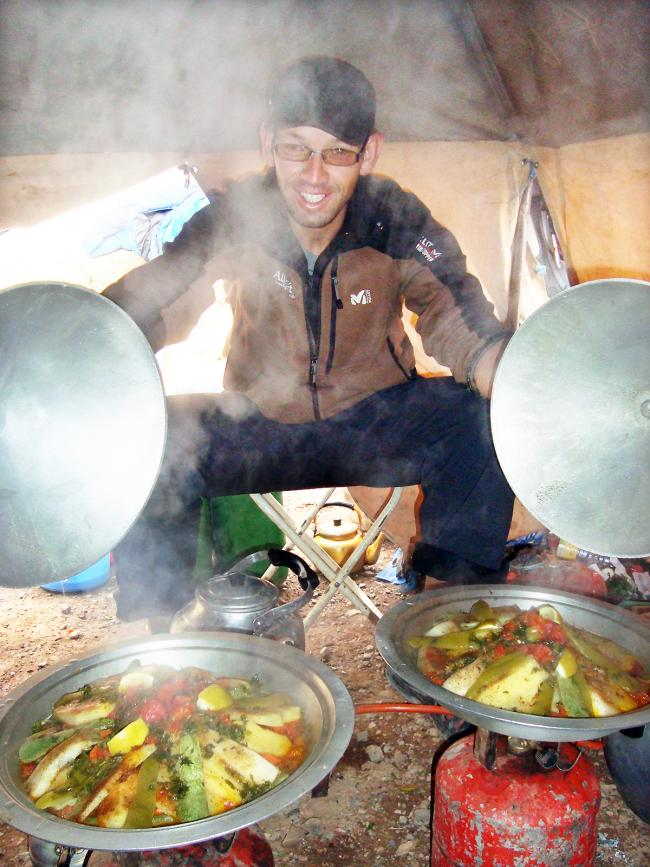 TAGINE: Abd with his wonderful Morcoccan creations