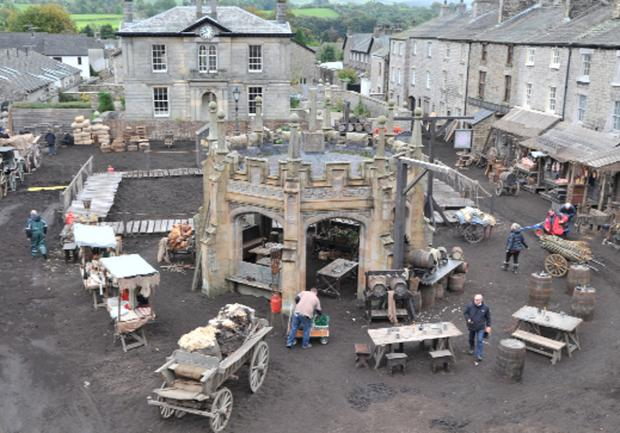 The fiolm crew transform Kirkby Lonsdale's Market Square
