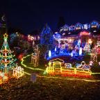 The Westmorland Gazette: 11/12//2013  One couple from Finstall in Bromsgrove, Worcestershire have taking putting up the Christmas Lights to a whole new level. Wendy and Malcolm from Alcester Road, Finstall have decorated the whole of their house, front garden and roof with christ