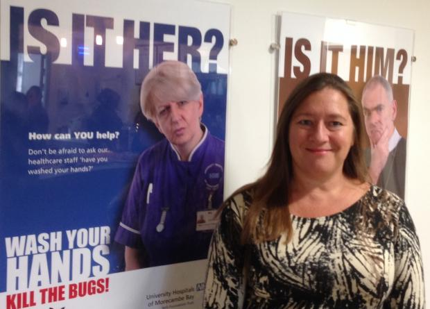 Sue Smith, Executive Chief Nurse of the trust with the campaign materials