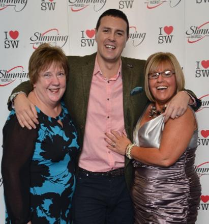 Slimming World consultants Kay Hunter and Karen Ann Clarke meet comedian and TV presenter Paddy McGuinness